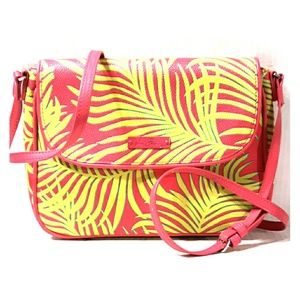Beautiful NWOT Vera Bradley Palm Fronds Neon Xbody